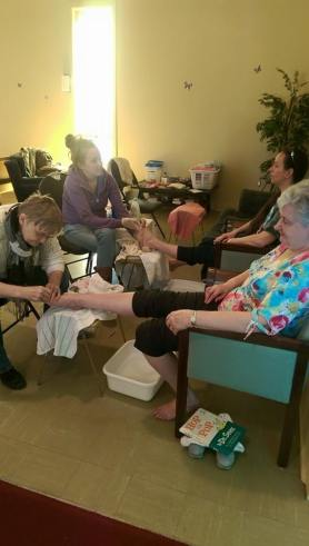 Maundy Thursday Community Pedis